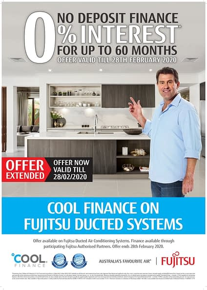 Fujitsu Promo Poster Cool Finance on Ducted Systems